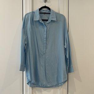 Chambray ¾ button blouse